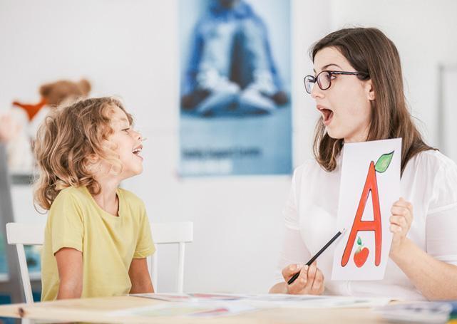 dziecko uczysię wymawiać literki a
